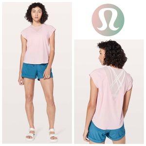 Lululemon For The Run Short Sleeve Top Petal Pink